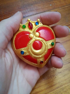 Sailor moon brooch, cosmic heart compact cosplay - Geek And Artsy