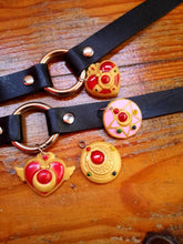 Sailor moon transformation brooch chockers, heart compact pendant, crisis compact brooch chocker necklace - Geek And Artsy