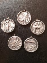 Power rangers pendant, mighty morphin coin, power coin medallion necklace - Geek And Artsy