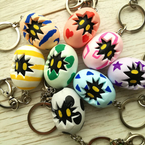 Digimon digitama keychains, digiegg keyrings - Geek And Artsy