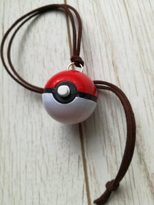 Pokemon trainer pokeball necklace, pokemon cosplay, pokemon pendant, pokeball pendant - Geek And Artsy