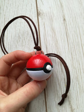 Pokemon trainer pokeball necklace