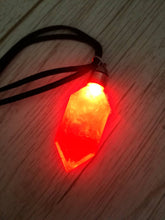Rupee light up necklace, energy crystal pendant, led crystal - Geek And Artsy