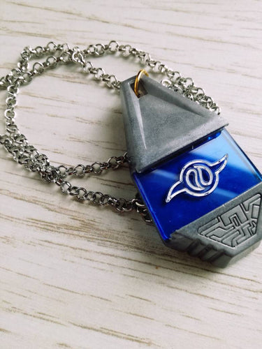 Digimon silver tag and crest, digimon cosplay prop, digimon necklace - Geek And Artsy