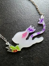 Digimon tailmon necklace, gatomon pendant, running cat necklace - Geek And Artsy