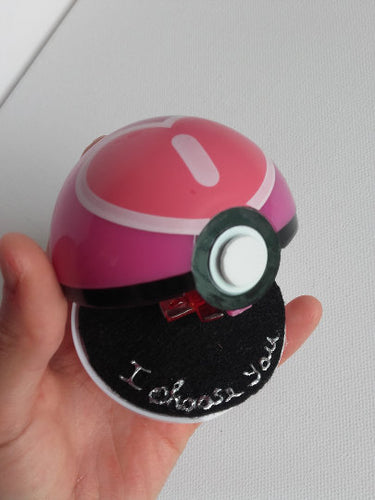 I choose you! - pokemon engagement ring box - Geek And Artsy