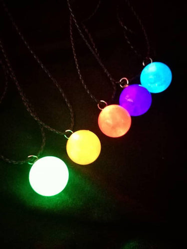 Final fantasy materia pendant, glow globes, led pendant - Geek And Artsy