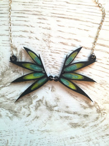 w.i.t.c.h. wings necklace close up
