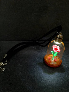 beauty and the beast rose necklace - Geek And Artsy