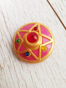 Sailor moon brooch, crystal star compact cosplay accessory - Geek And Artsy