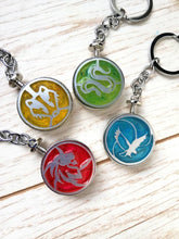 Harry potter house keychains, gryffindor, slytherin, hufflepuff, ravenclaw keyrings - Geek And Artsy