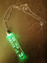 "star wars aurebesh necklace with light- ""there is no try"" - Geek And Artsy"