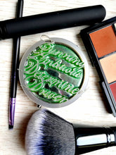 Slytherin pocket mirror, harry potter inspired makeup mirror - Geek And Artsy