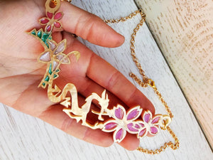 Mulan inspired dragon necklace - Geek And Artsy