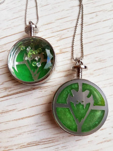 Slytherin necklace, harry potter necklace - Geek And Artsy