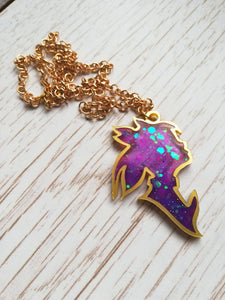 League of legends star guardian lux pendant, iridescent necklace - Geek And Artsy
