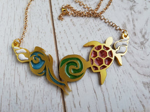 Moana inspired heart of Te Fiti necklace
