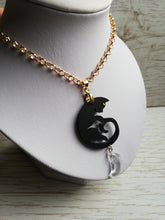 Sailor moon Luna and Artemis necklaces, cat gem pendant, friendship necklace - Geek And Artsy