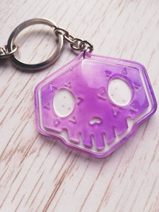 Overwatch sombra skull keychain - Geek And Artsy