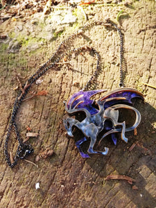 Thestral necklace, fantastic beasts pendant - Geek And Artsy