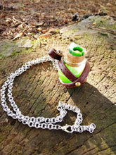Dungeons and dragons green potion vial, LARP potion necklace - Geek And Artsy