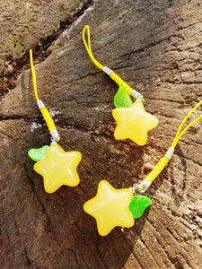 Kingdom hearts paopu fruit charm dangler