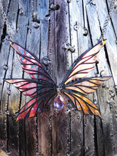 Iridescent fairy wings necklace,  butterfly wings - Geek And Artsy