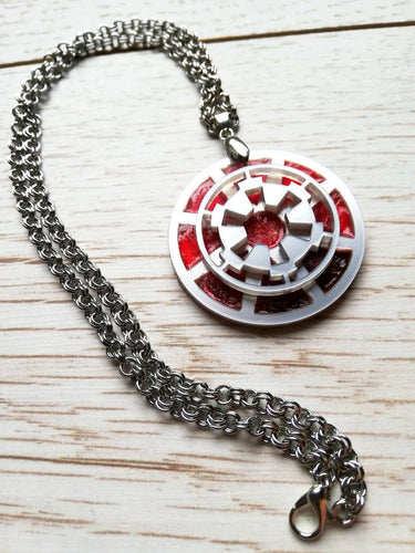 Star wars Imperial crest pendant, galactic empire pin - Geek And Artsy