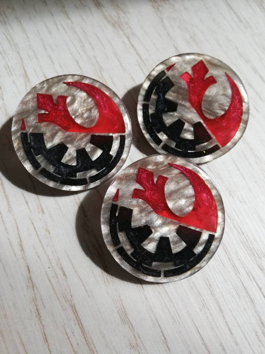 Star wars rebellion and empire symbols pin - Geek And Artsy