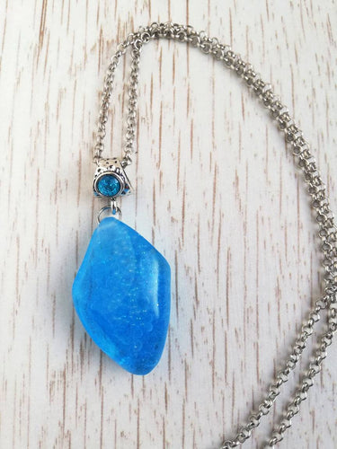 water stone necklace