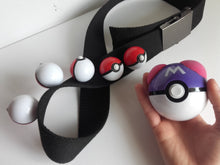 Pokemon trainer belt for cosplay- 5 small pokeballs + 1 big pokeball! - Geek And Artsy