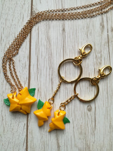 Paopu keychain and necklace kingdom hearts
