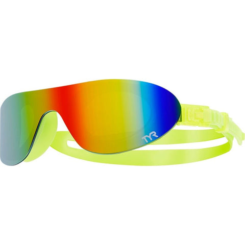 Goggles para natación TYR Swim Shades Mirrored Amarillo