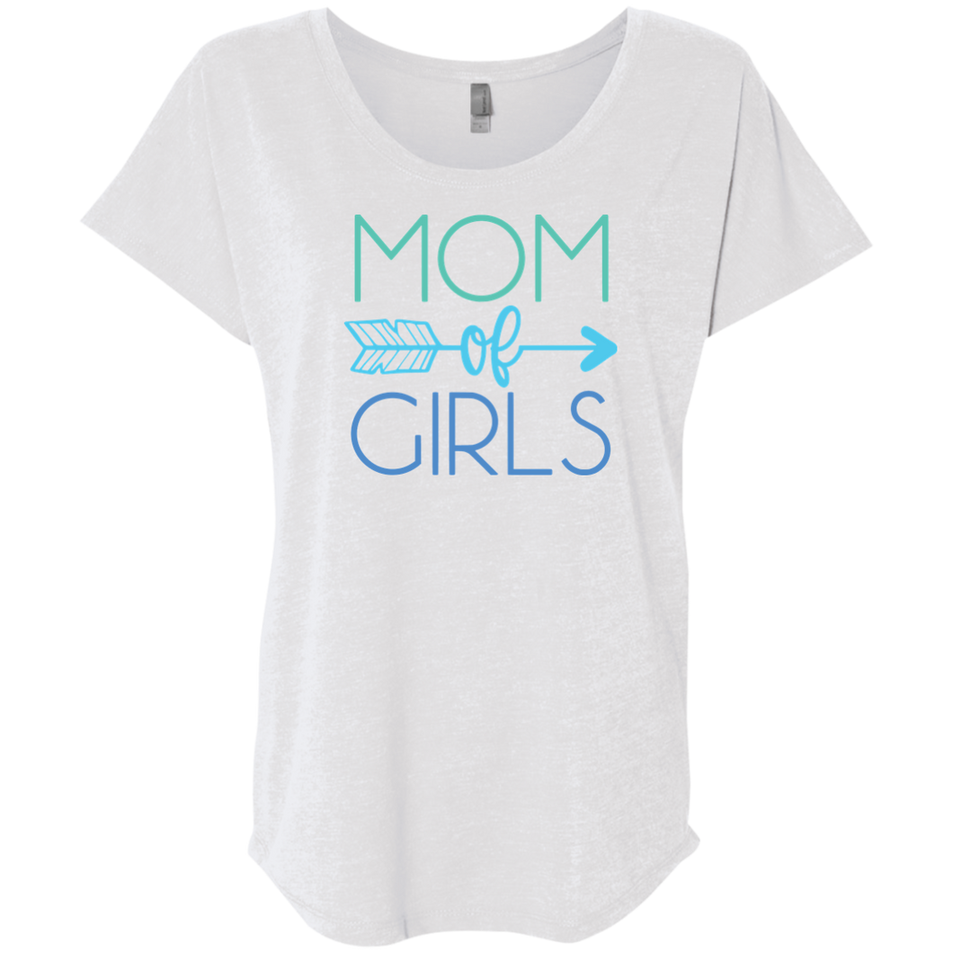 Mom of Girls Tri-Blend Dolman