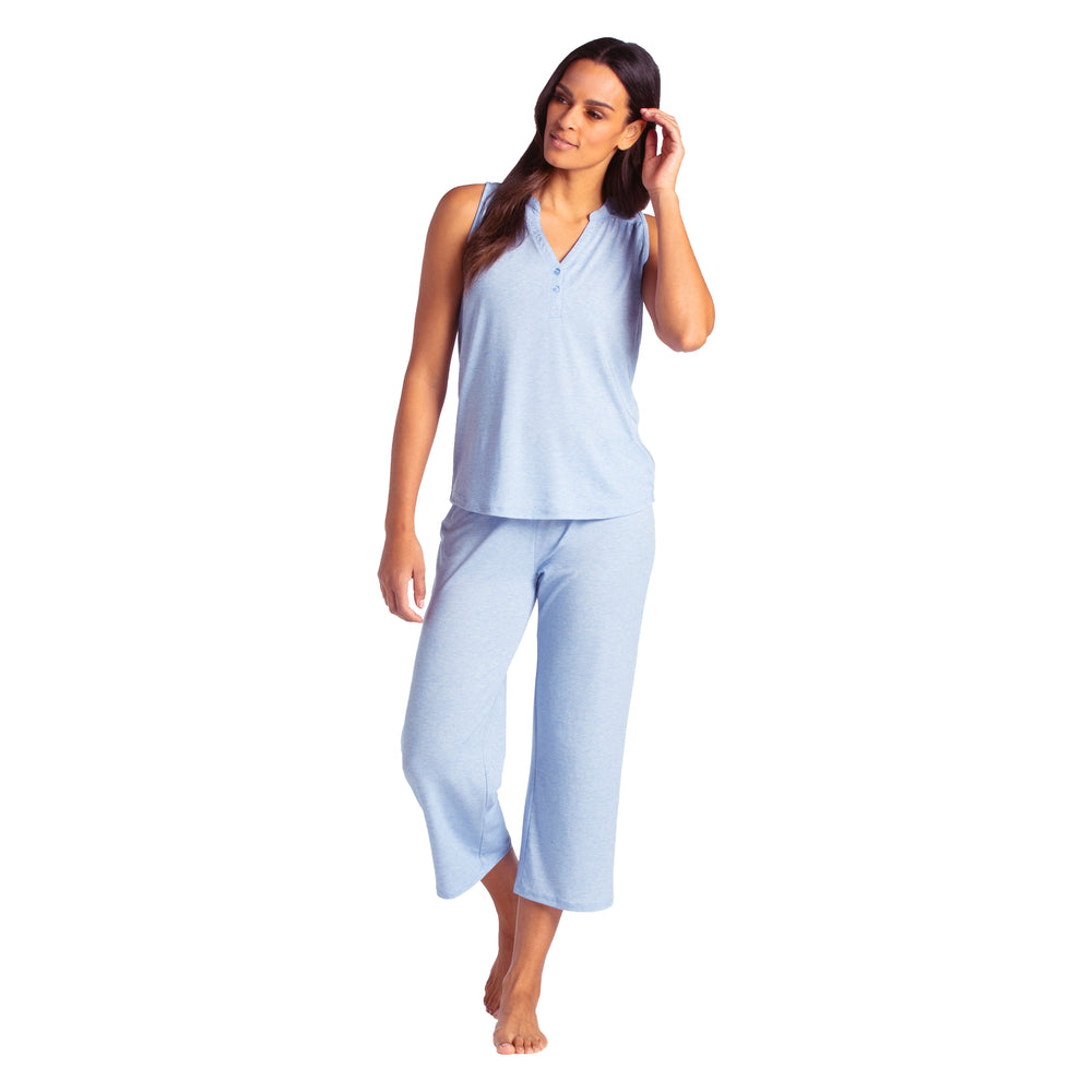Elle - Sleeveless Capri PJ Set