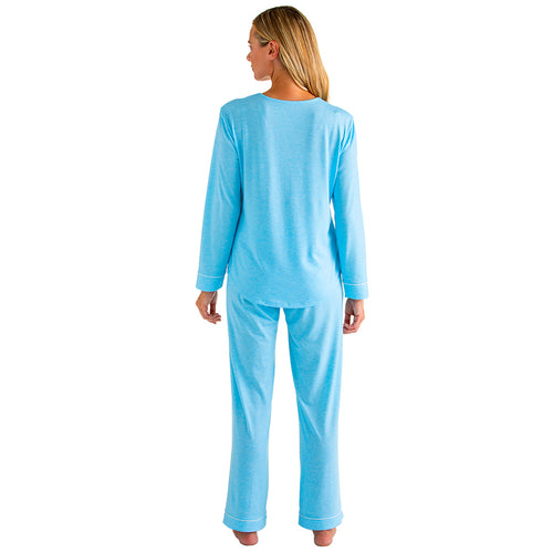 Piper - Long Sleeve Contrast Trim Ankle PJ Set