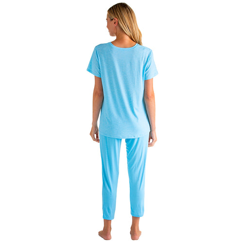 Tully - Vneck Capri PJ with Tulip Hemlines
