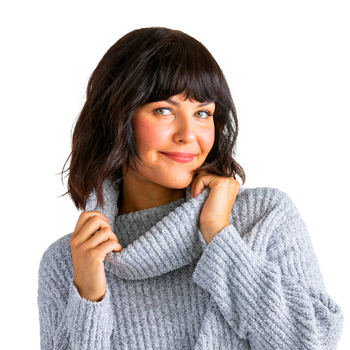 Marshmallow Slouch Turtleneck Lounge Set
