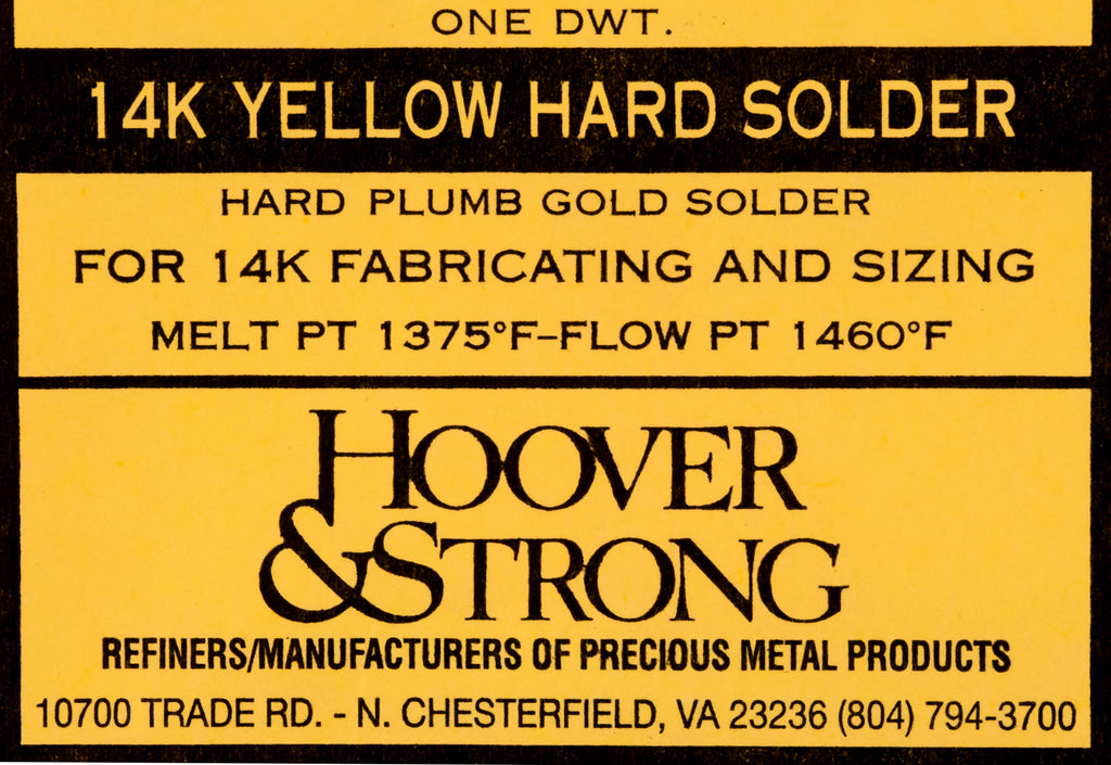 Hoover & Strong 14K Yellow Hard Plumb Solder