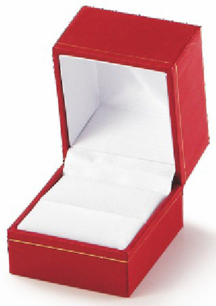 Classic Leatherette-look Ring boxes Black Box of 24