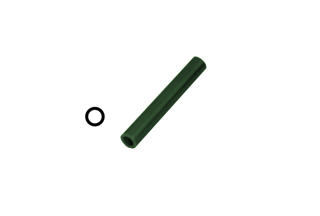 Matt Ring Tube, Green, With Centered Hole, Item No. 21.02719