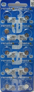 Renata 321 Battery. Pack of 10