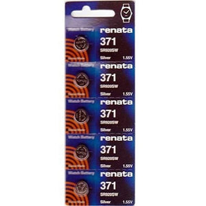 Renata 371 Battery. Pack of 10