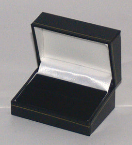 Classic Leatherette-look Double Ring boxes Box of 24
