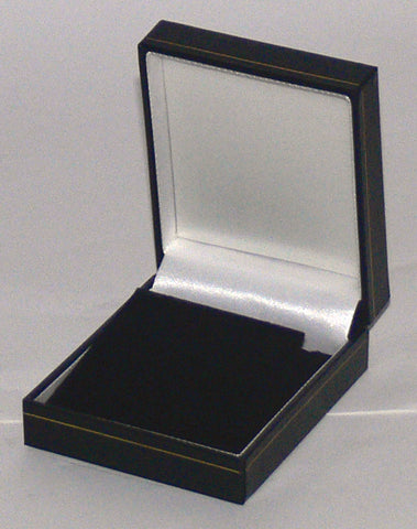 Classic Leatherette-look Earring/ Pendant boxes Box of  24