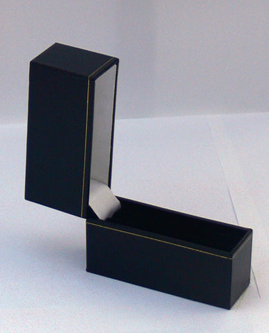 Classic Leatherette-look Slim Bangle boxes Black Box of 12