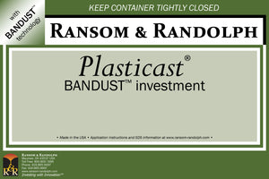 Ransom & Randolph Plasticast® With BANDUST™  Investment 44 lb. Box