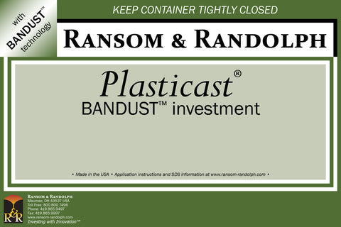 Ransom & Randolph Plasticast® With BANDUST™  Investment 50 lb. Box