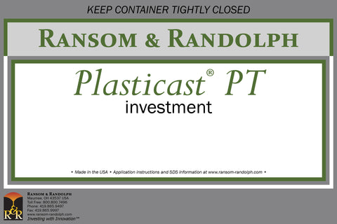 Ransom & Randolph Plasticast®  PT With Binder Investment 44 lb. Box