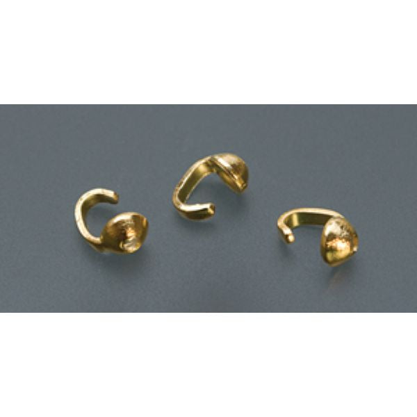 BEAD TIP, SINGLE-GOLD PLATED, PK/144